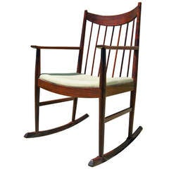 Rosewood Rocking Chair by Arne Vodder