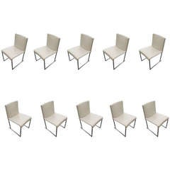 Set of Ten Solo Dining Chairs by Antonio Citterio for B&B Italia