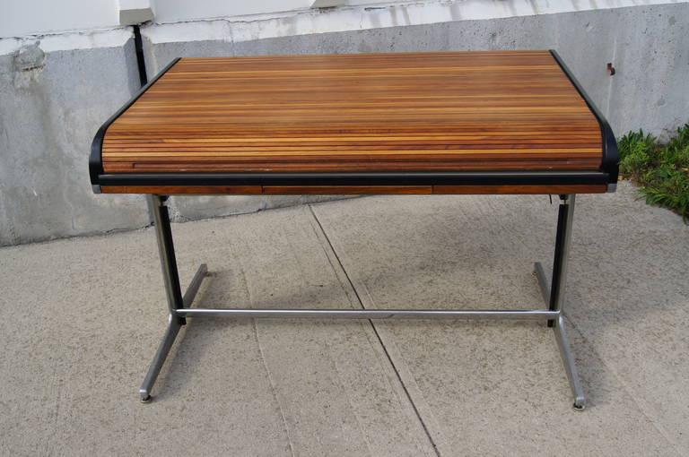 walnut rolltop desk by george nelson for herman miller 3 - Rolltop Desk