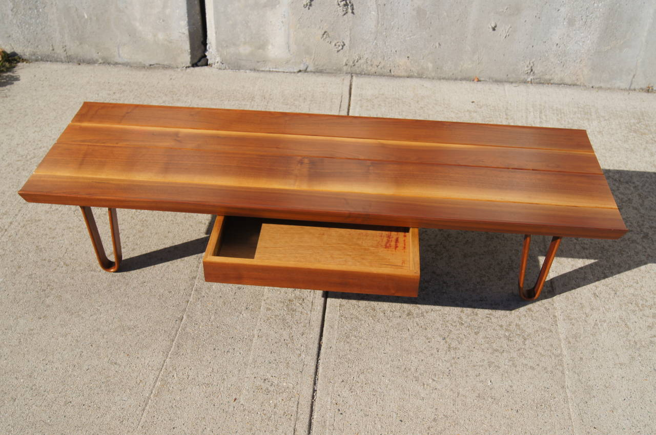 Mid Century Modern Long John Coffee Table By Edward Wormley For Dunbar