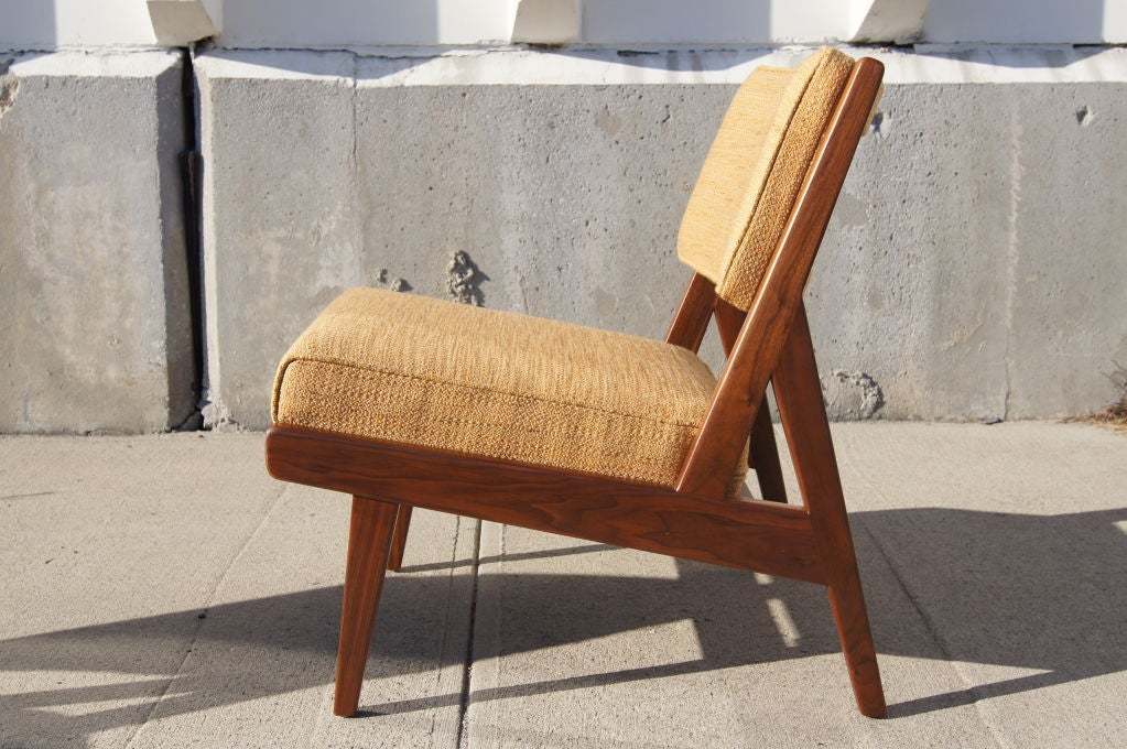 Pair of low side lounge chairs by jens risom at 1stdibs - Jens risom side chair ...