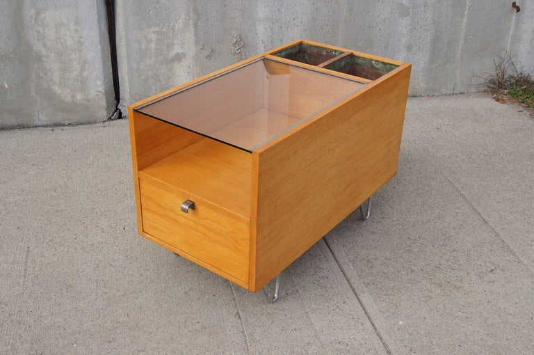 Rare Hairpin Leg Side Table with Planters by George Nelson for Herman Miller image 8