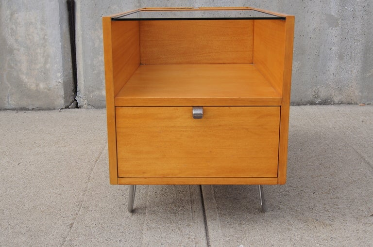 Rare Hairpin Leg Side Table with Planters by George Nelson for Herman Miller 2