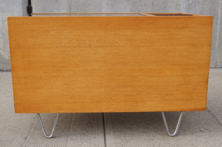 Rare Hairpin Leg Side Table with Planters by George Nelson for Herman Miller 5