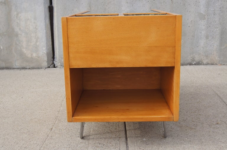 Rare Hairpin Leg Side Table with Planters by George Nelson for Herman Miller image 7