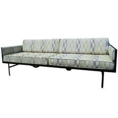 Danish Modern Steel-Frame Sofa after Fritz Hansen