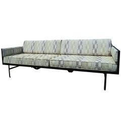 Danish Modern Steel-Frame Sofa after Fritz Hansen