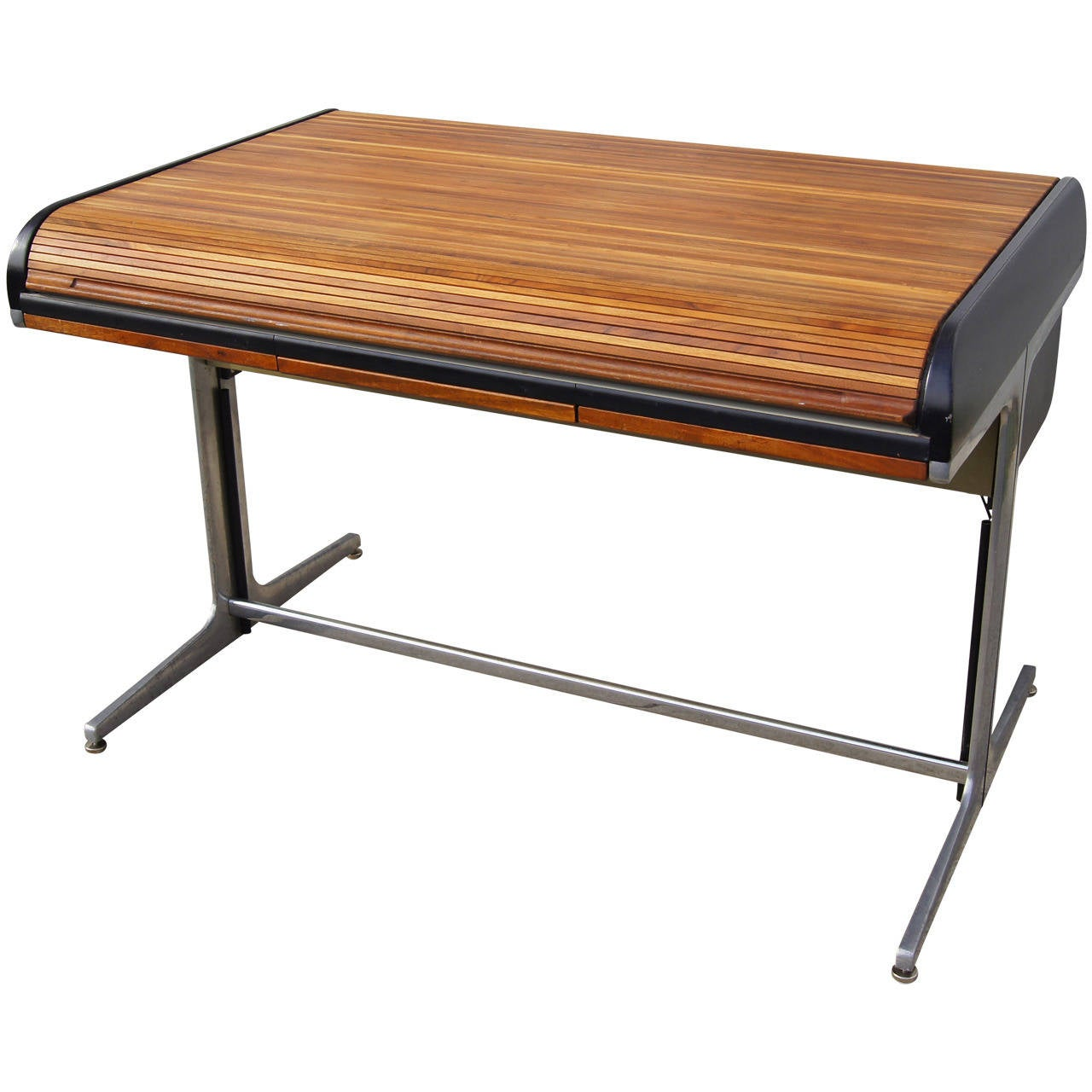 Walnut Rolltop Desk by George Nelson for Herman Miller at