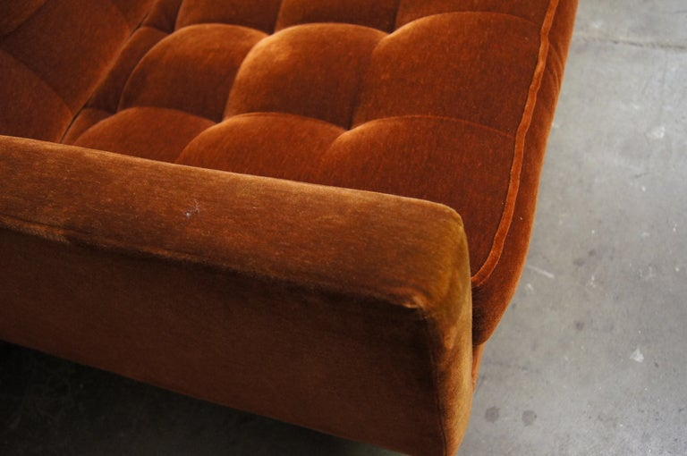Three Seater Sofa In Mohair By Florence Knoll 3