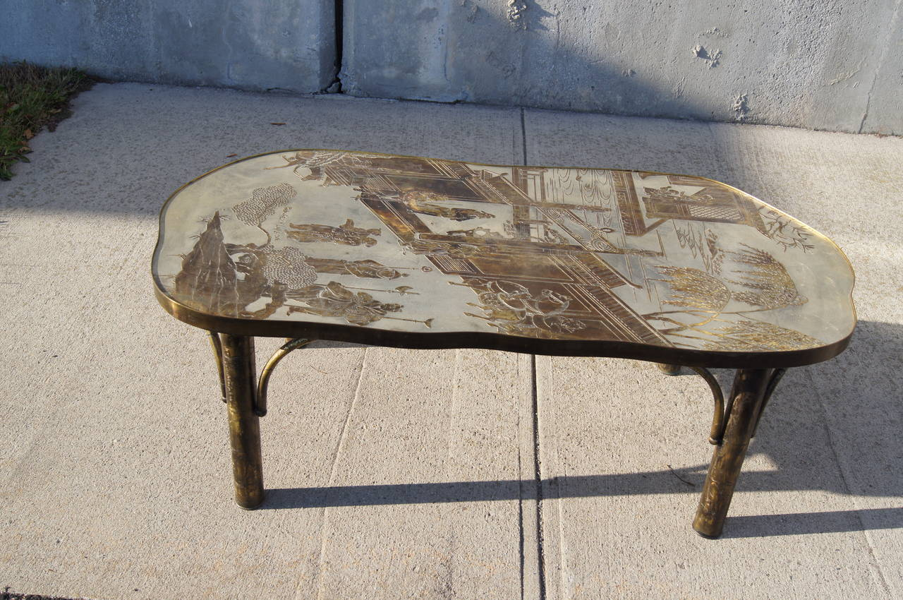 Chinoiserie Bronze Coffee Table By Philip And Kelvin Laverne For Sale At 1stdibs