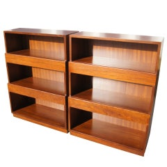 Pair of Bookcases with Drawers by Edward Wormley for Dunbar