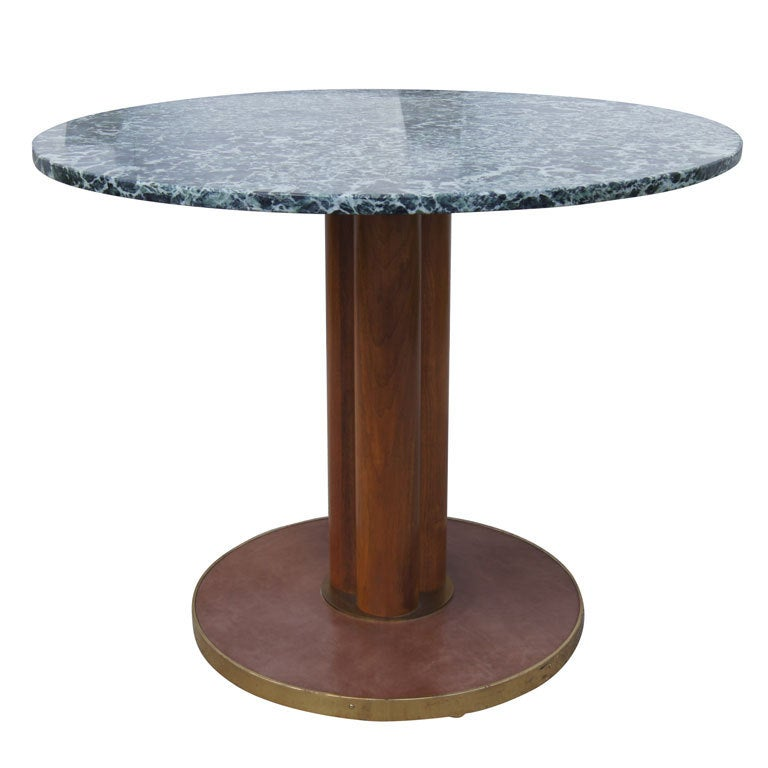 Round Marble Table by Edward Wormley for Dunbar