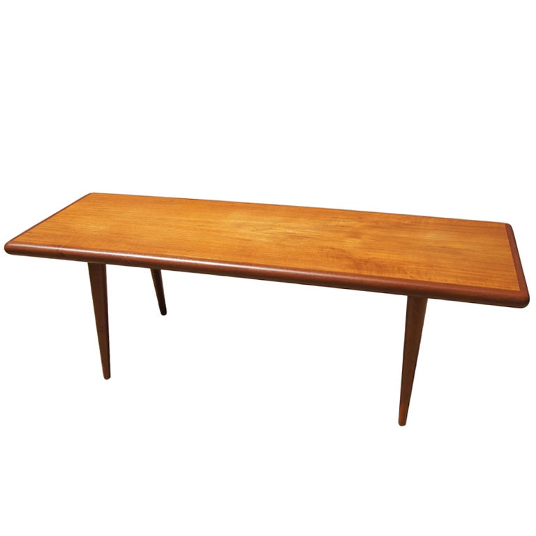 Danish Teak Coffee Table By Jacob Nielsen And S Nner M Belfabrik At 1stdibs
