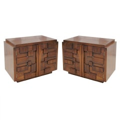 Pair of Nightstands from the Mosaic Series by Lane