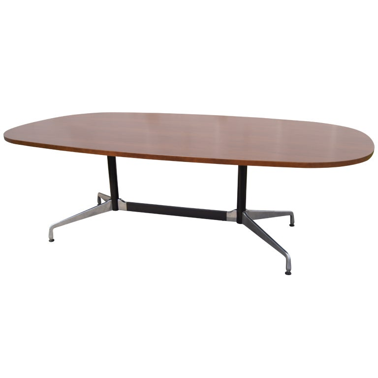 aluminum group conference table by eames for herman miller at 1stdibs. Black Bedroom Furniture Sets. Home Design Ideas