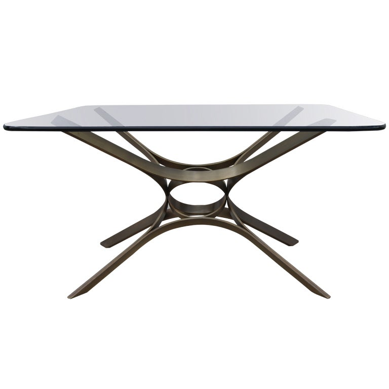Glass And Bronze Coffee Table By Roger Sprunger For Dunbar At 1stdibs