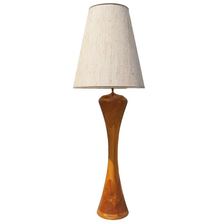 Large Mixed Hardwoods Floor Lamp at 1stdibs
