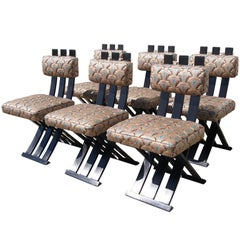 Set of Six X-Base Dining Chairs by Harvey Probber