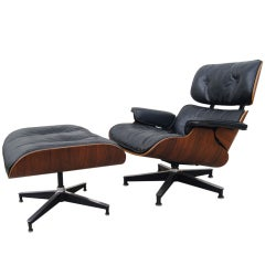 Eames Lounge Chair and Ottoman, Model 670/671