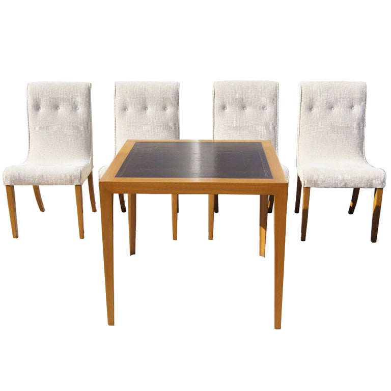 Card Table And Chairs By Edward Wormley For Dunbar At 1stdibs