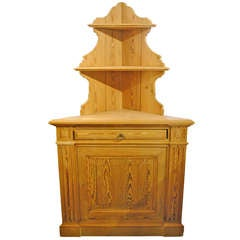 Pitch Pine Corner Cabinet