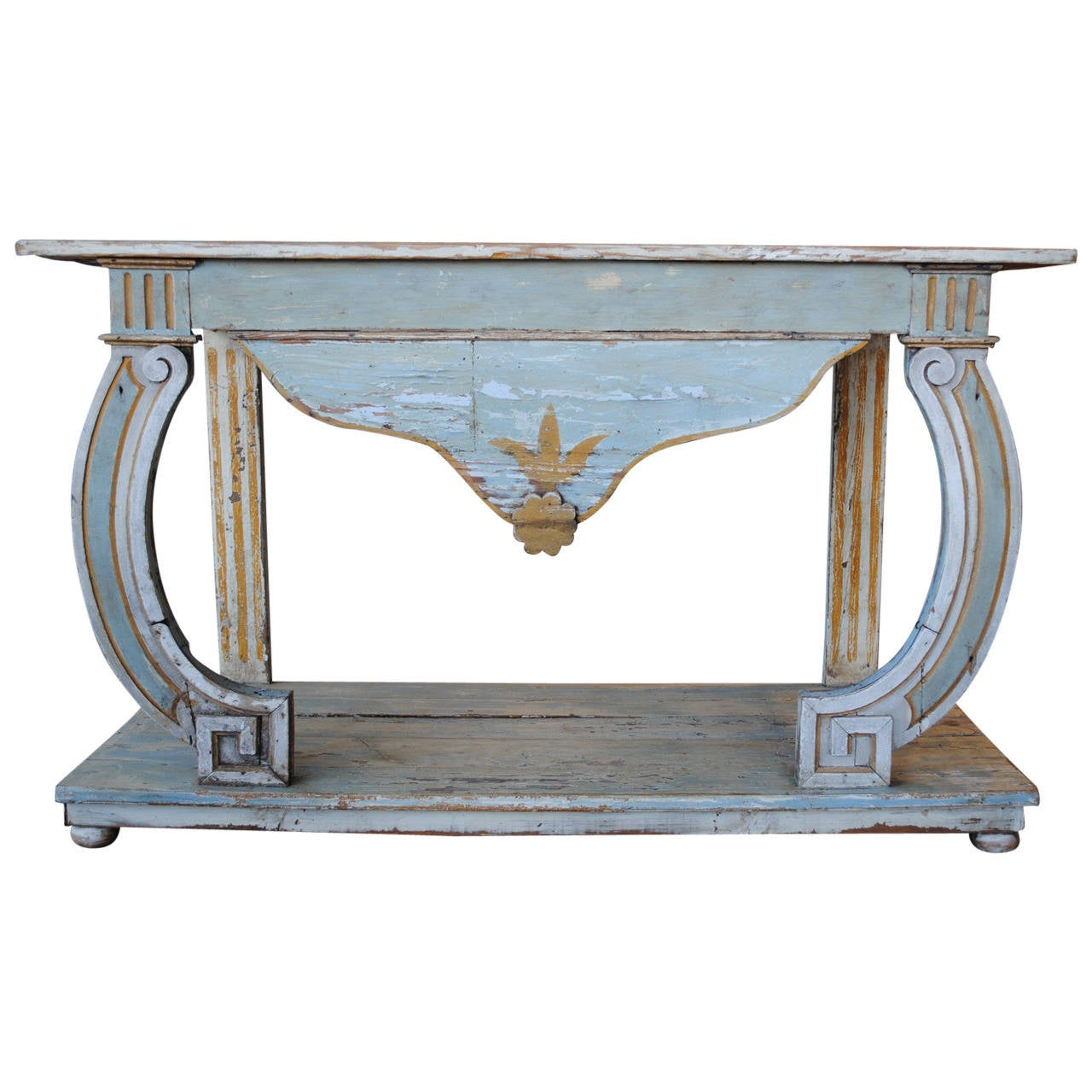 18th century portuguese painted console table for sale at for Painted foyer tables