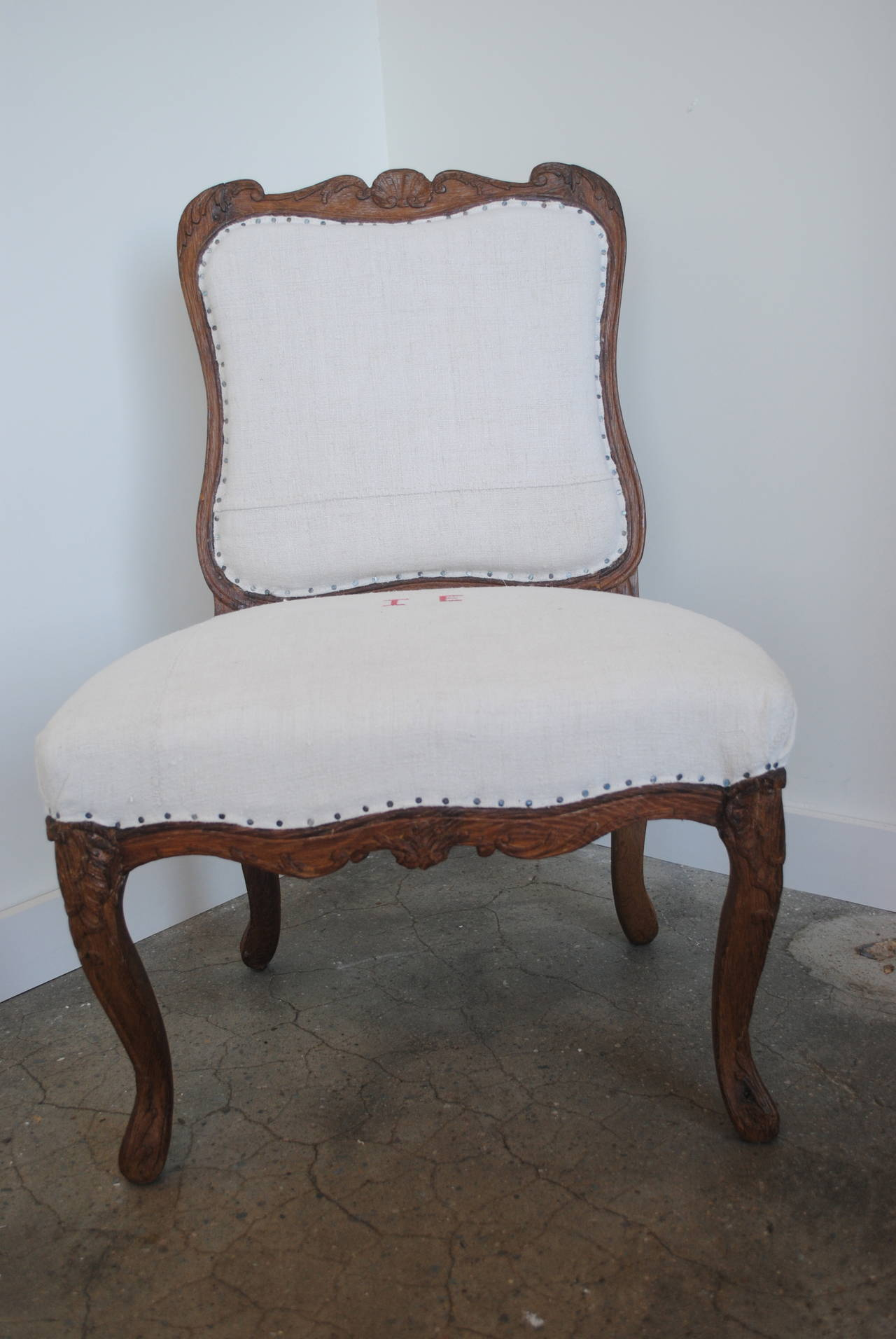 Pair of 19th Century Chestnut Slipper Chairs 5