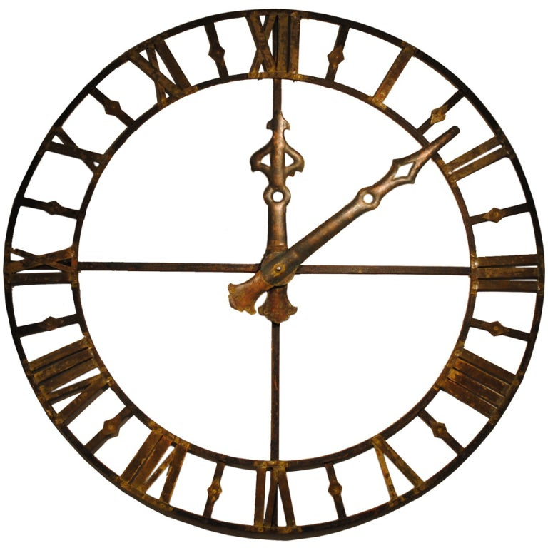 Large Clock Face At 1stdibs