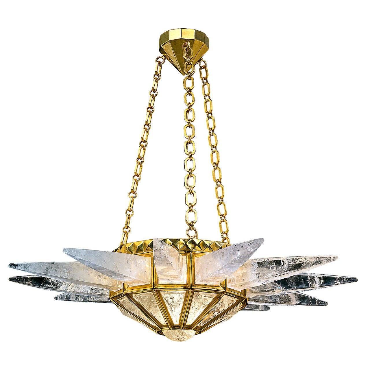 Rock Crystal Starburst Light For Sale At 1stdibs