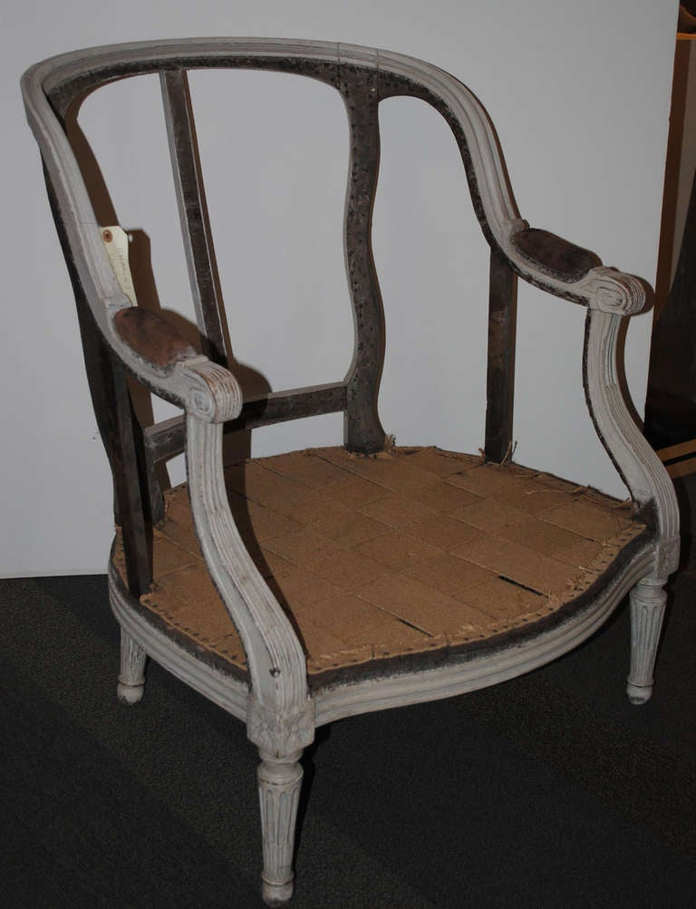18th Century Louis XVI Period Bergere For Sale 6