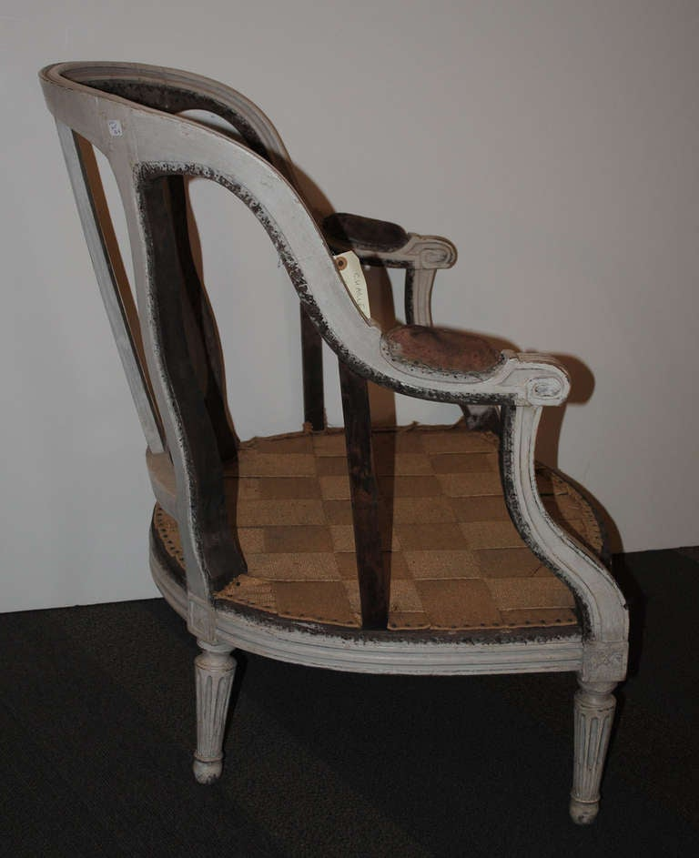 18th Century Louis XVI Period Bergere For Sale 7