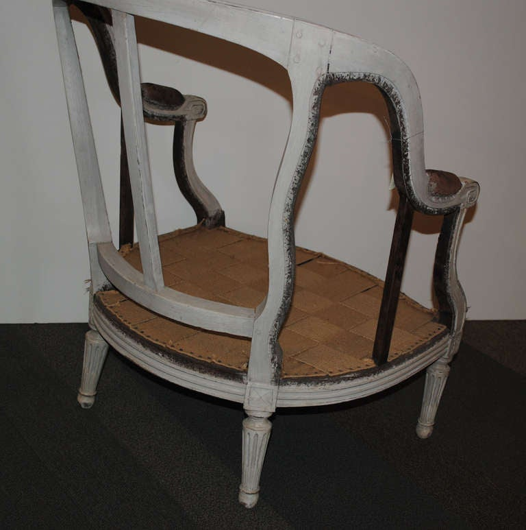18th Century Louis XVI Period Bergere For Sale 8
