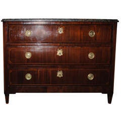 19th Century Inlaid Mahogany Veneer Chest of Drawers