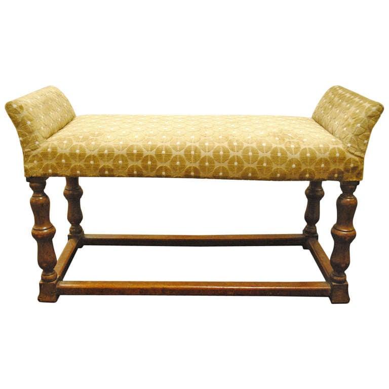 Small Wood Upholstered Stool At 1stdibs