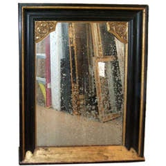 Napoleon III Ebonized and Gilt Framed Mirror