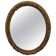 Carved Oak Mirror