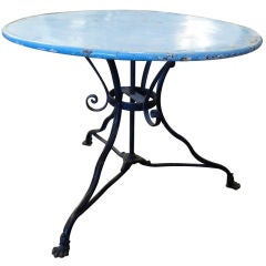 19th Century Iron Cafe Table
