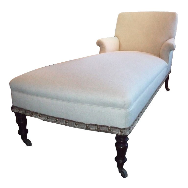 19th century napoleon iii chaise longue at 1stdibs for Chaise napoleon 3