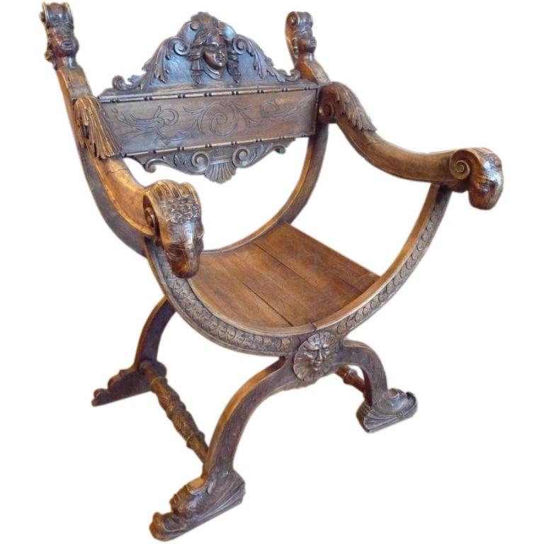 Savonarola chair at 1stdibs