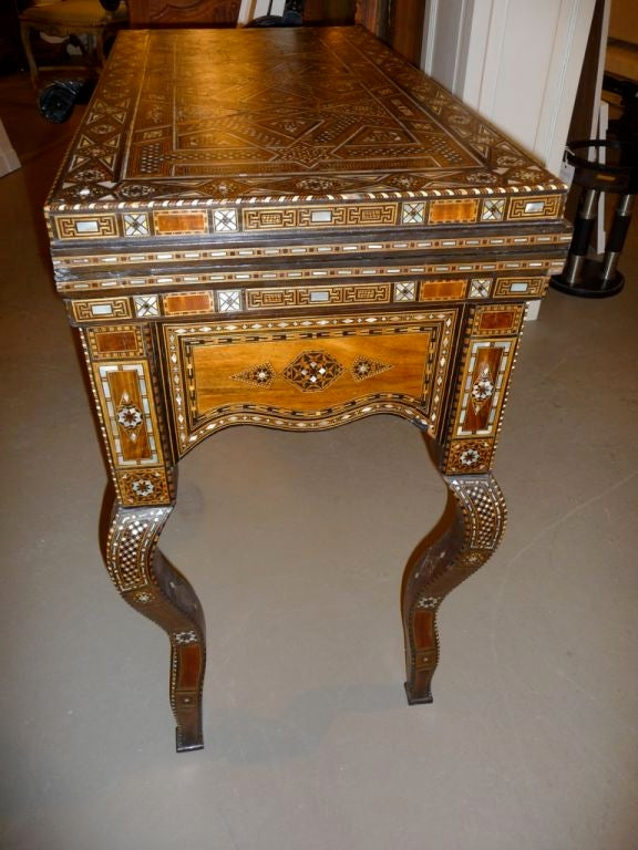 Inlaid Mother Of Pearl Syrian Game Table At 1stdibs