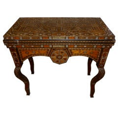 Inlaid Mother of Pearl Syrian Game Table
