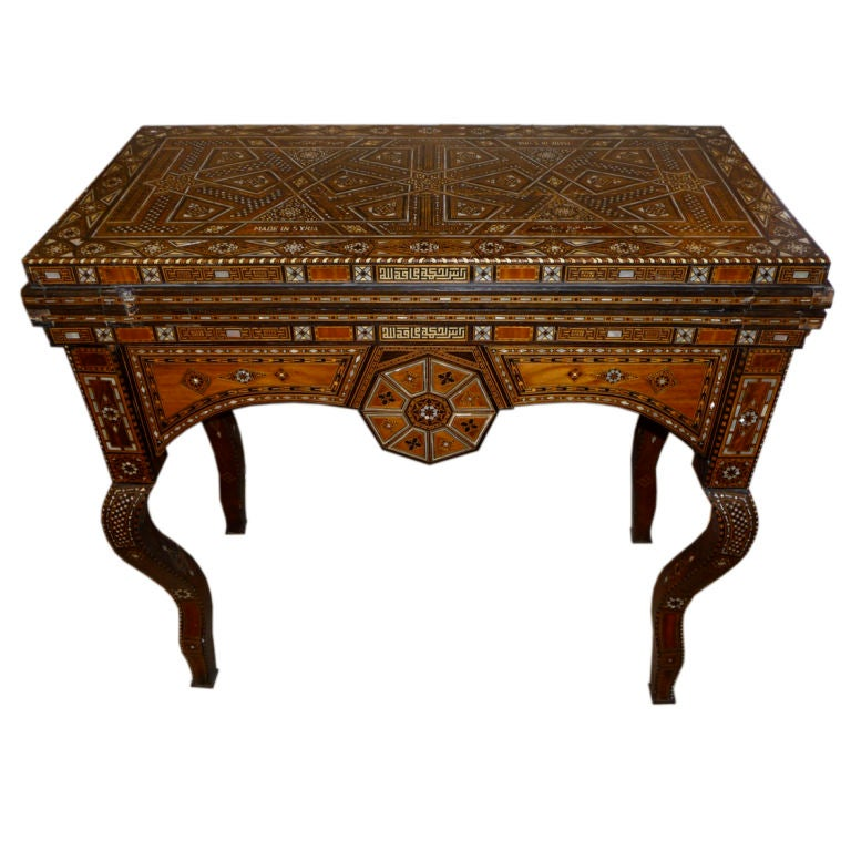 Inlaid Mother Of Pearl Syrian Game Table 1