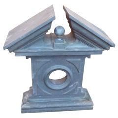 19th Century Wall-Mounted Zinc Pediment