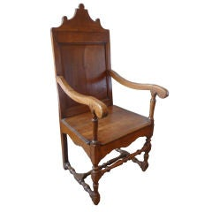 Fruitwood Armchair with Branded Crest