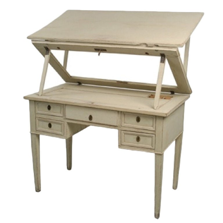 painted writing table