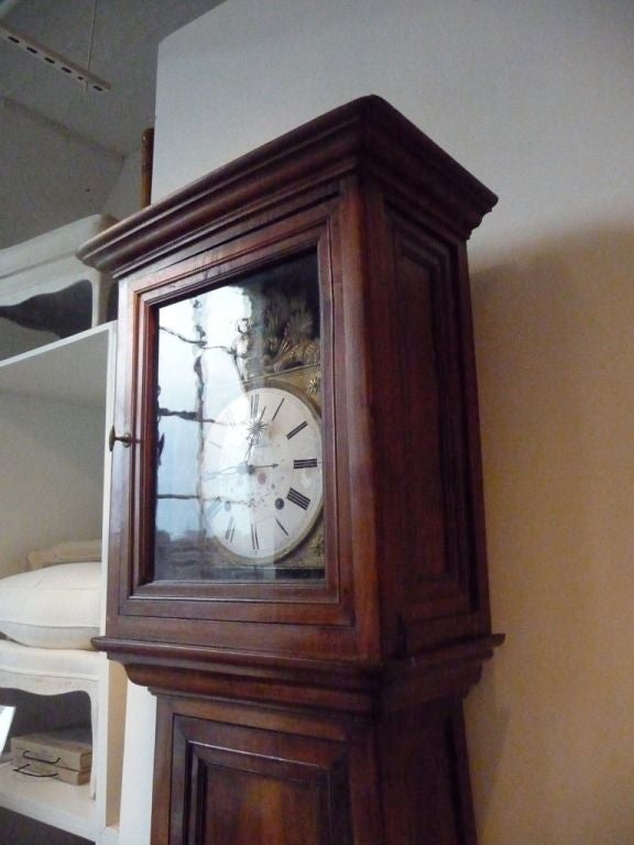 French 19th Century Norman Tall Case Clock For Sale