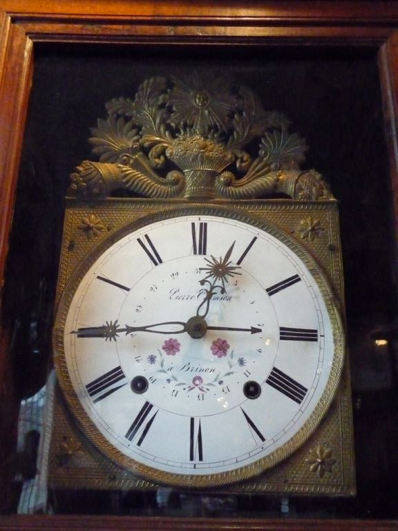 19th Century Norman Tall Case Clock In Excellent Condition For Sale In Boston, MA