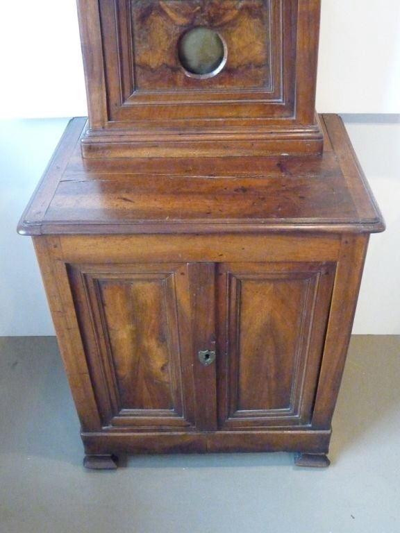 Fruitwood 19th Century Norman Tall Case Clock For Sale