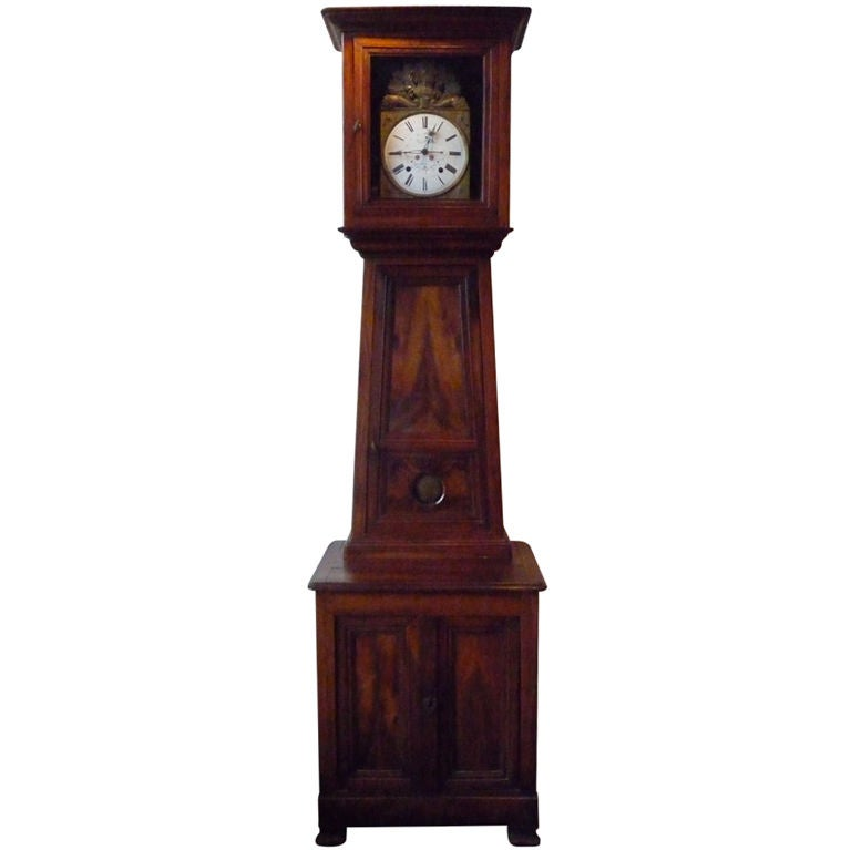19th Century Norman Tall Case Clock For Sale