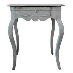 18th Century Swedish Table with Cabriole Legs